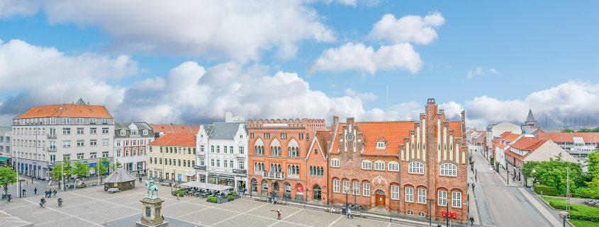 Udsigt fra Voxeværket i Esbjerg