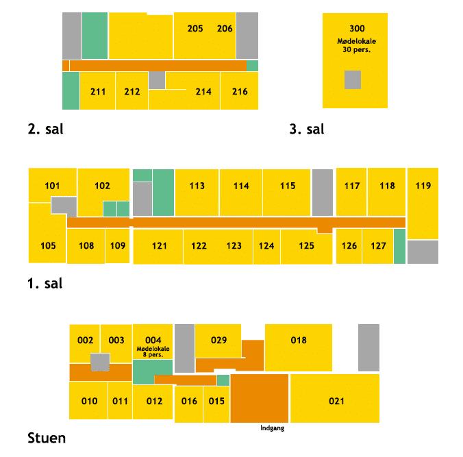 Plantegning over Voxeværket Charlottenlund på Stationspladsen