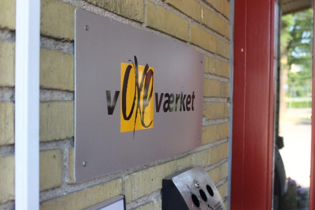 Her ses Voxeværket på en væg i et af vores kontorfællesskaber