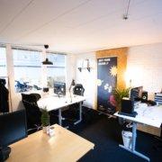 Her er et lukket kontor i Voxeværket Århus