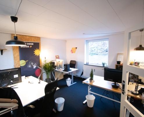 Lukket kontor i Voxeværket Århus